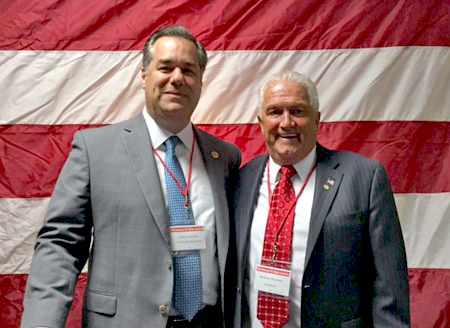 L-R: NYSPFFA President-Elect Sam Fresina Stands With Outgoing President Mike McManus