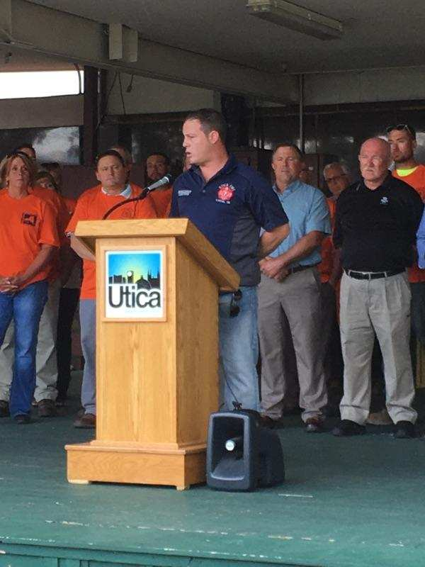 IAFF Local 32 – Utica joins other Unions and leaders to set
